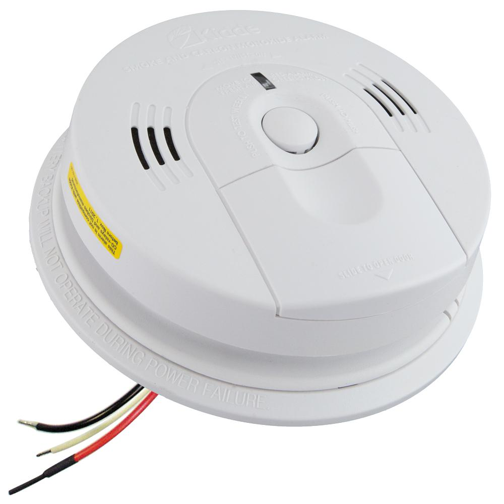 Kidde KN-COSM-IBA Hardwired Smoke and Carbon Monoxide Detector with Battery Backup and Voice Alarm