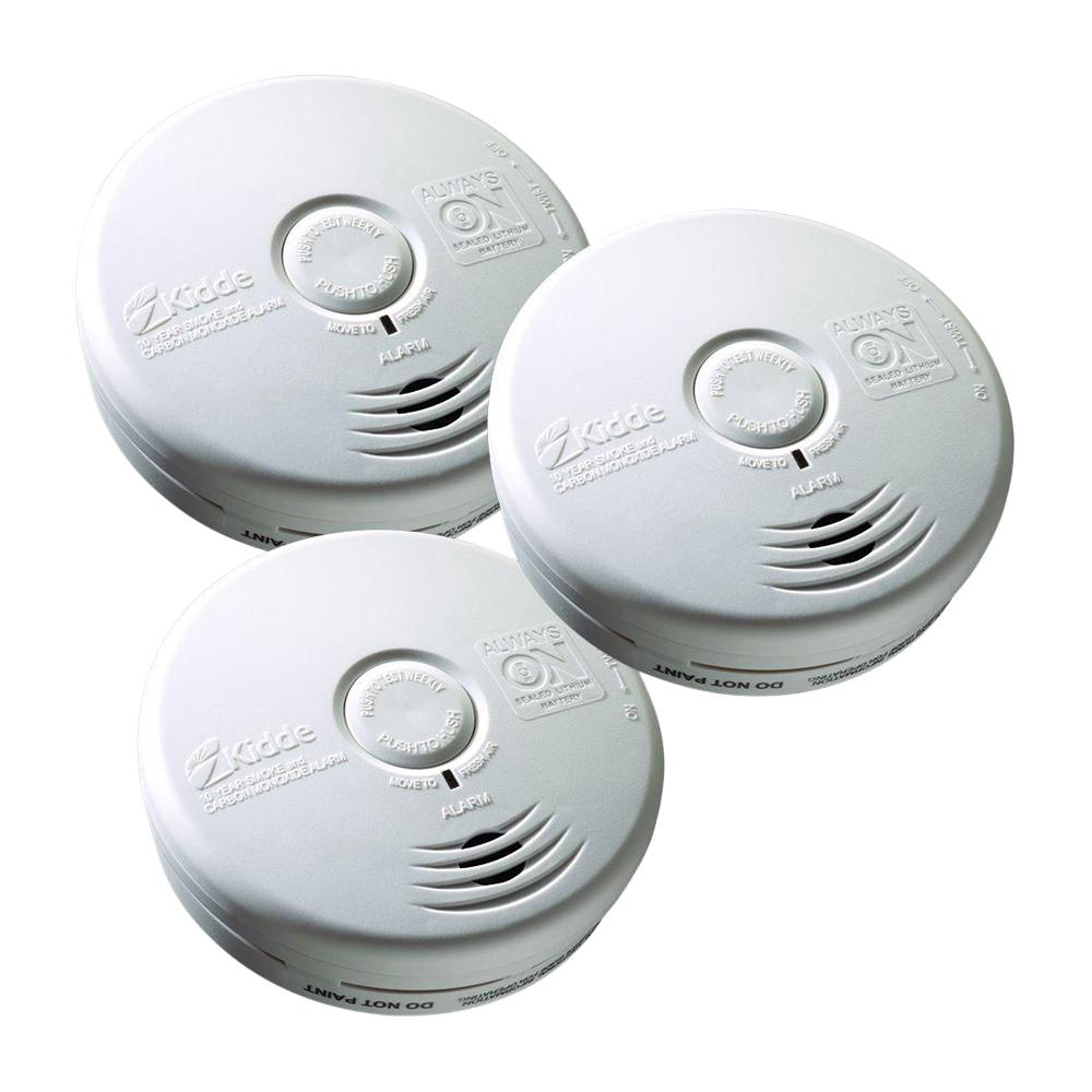 10-Year Sealed Battery Smoke and Carbon Monoxide Combination Detector (3-pack)