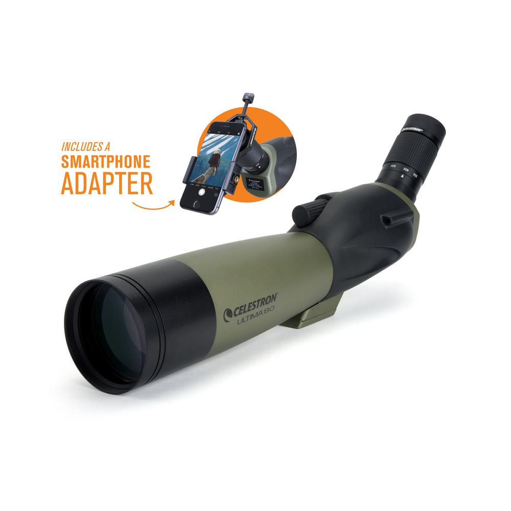 Ultima 80 45-Degree Spotting Scope with Smartphone Adapter